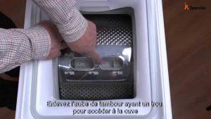 objet coincé dans lave-linge